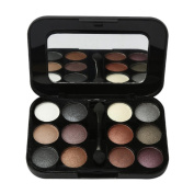 Fortan 12 Colours Pro Eyeshadow Palette Cosmetic Brush Mirror Makeup Set A