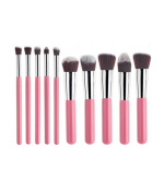Professional 10pcs Cosmetic Foundation Makeup Brushes Set with Opp Bag