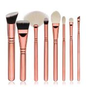 Yistu 8pcs Professional Powder Makeup Eye Shadow Brushes Set Kit