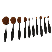 XINW 10Pcs/Set Toothbrush Shape Eyebrow Makeup Foundation Brush Powder Brush Kits