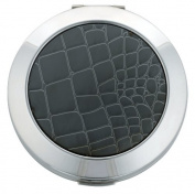 Powder Compact with Silver Metallic Lizard Skin Effect