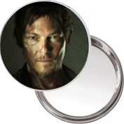 Unique Button Mirror with a picture of Daryl Dixon played by Norman Reedus in The Walking Dead.