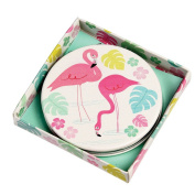 Flamingo Bay Handbag Compact Mirror