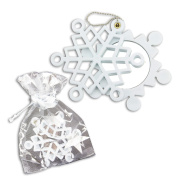 EigenArt XMAS Gifts - Snow Crystal Compact Mirror with Gift Bag