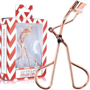 Lily England Luxury Eyelash Curler in Rose Gold - The Best Eyelash Tool For All Shapes And Sizes - 2 Extra Refill Pads Included