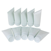 BQLZR 30ml Light Grey-Blue Plastic Whorl Cover Soft Empty Cream Travel Pollution Free Packing Bottle Pack of 10