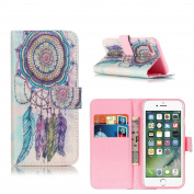 Magnetic iPhone 7 Case, ELECDAY Smart Wallet Design Stand Cover with card holder