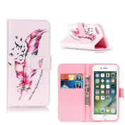 Protective Case iPhone 7, ELECDAY Smart Wallet Design Stand Cover with card holder