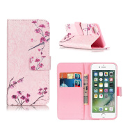iPhone 7 Case For Girl, ELECDAY Smart Wallet Design Stand Cover with card holder