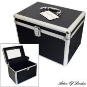 Large Black Aluminium Lockable Vanity Case Cosmetic Beauty Storage Box by Aston of London