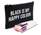 Sanfran - Black Is My Happy Colour Grunge Goth Make-Up Bag