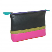 CTM Leather Multi colour Cosmetic Travel Bag