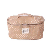 Fieans Travel Storage Bras Underwear Pouch With Handle Multiuse Suitcase Packing Cube for Cosmetics Toileteries-Yellow