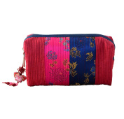 RED Makeup pouch, Large storage for cosmetics, pretty and practical fabric bag design handmade