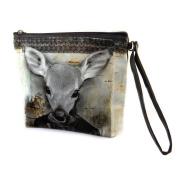 "Cosmetic bag 'Homme Daim'green - 19x16.5x5.5 cm (7.48""x6.50""x2.17"")."