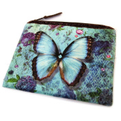 "Cosmetic bag 'Papillon Imaginaire'blue - 19x16 cm (7.48""x6.30"")."