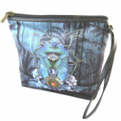 "Cosmetic bag 'Scarabée Imaginaire'blue - 19x16.5x5.5 cm (7.48""x6.50""x2.17"")."