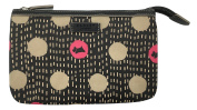 RADLEY 'Dashed spotty' make-up cosmetic bag purse black