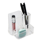 ASAB Cosmetic Organiser Jewellery Storage Clear Acrylic Makeup Drawers Sections Lipstick Brush Holder Case Box 3 Section Makeup Brush Holder Case