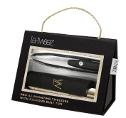 Black PRO Illuminating Tweezers & Mirrored Carry Case with Diamond Dust Tips