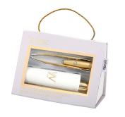 Gold PRO Illuminating Tweezers & Mirrored Carry Case with Diamond Dust Tips
