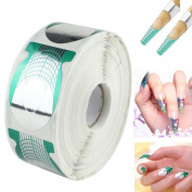 MultiWare 500pcs Nail Art Extension Sticker Form Acrylic UV Roll Gel Nail Tips Decor Tool