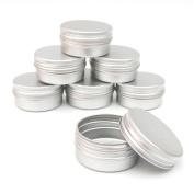 3x ALUMINIUM JAR POT TIN CONTAINER (15ml) For Nail Art MakeUp Cosmetic Travel Creams Lip Balm Tattoos