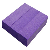 NB24 Buffer Purple, Set of 3 180 Grit Sand Paper Pads Sandpaper Buffer Buffing Sanding Block Files Tools and Equipment for use in Artificial Fingernails Pedicure