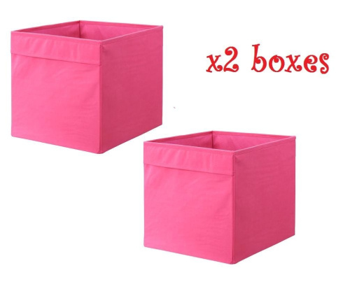 x2 pink ikea drona 33x38x33cm home office storage box. Black Bedroom Furniture Sets. Home Design Ideas