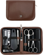 THREE SWORDS | Exclusive 10-Piece MANICURE - PEDICURE - GROOMING - NAIL CARE set / kit / case | basic-standard quality