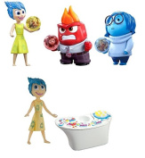 Disney Pixar Toy - Inside Out Set of 3 9.5cm Action Figures and Console - Anger Sadness and Joy