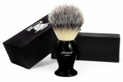 Syntactic (Badger looking ) Hair Shaving Brush with Black Handle/Base. Perfect for Good Shave.