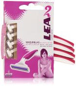 Lea Woman PREMIUM2 - Razors, 4 Pieces, 200 gr