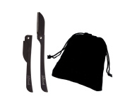 Brow Shaper Hair Removal Dermaplaning Tool Set of 5.1cm Black with a Velvet Gift Bag. Hygienic, Portable and Pain Free