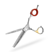 A.P. Donovan - Hair scissors / barber scissors made of stainless steel - (sizes 5.5 / 6.0 / 17cm ) stainless steel - for a precise cut - damask - 15cm (inches) Thinning