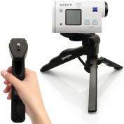 iGadgitz 2 in 1 Pistol Grip Stabiliser and Mini Lightweight Table Top Stand Tripod for Sony Action Cam AS200V, AS200V, AZ1VR, FDR-X3000, FDR-X3000R, HDR-AS50, X1000V, X1000VR