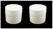 2 X Plastic Jars, Solid White Pot 20ml,ideal for lip balms, eye creams, testers, trial runs etc