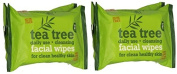 Tea Tree Daily Cleasing Facial Wipes For Clean & Healthy Skin (TWIN PACK) TWO PACK