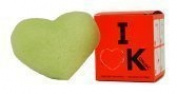 Indemne - I Love K - sponge Konjac face to l'green clay