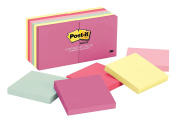 Post-it Notes, 7.6cm x 7.6cm , Marseille Collection, 12 Pads/Pack, 100 Sheets/Pad