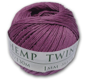 130m of 1mm 100% Hemp Twine Bead Cord in Orchid