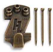 HangZ 113600.2lery Picture Hook, Antique Brass, 45kg