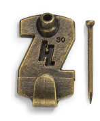 HangZ 124994.2lery Picture Hooks, 14kg, Antique Brass, 15-Pack
