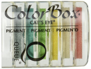 Clearsnap ColorBox Cat's Eye Queue Pigment Inkpads 6/Package, Rainbow Sherbet