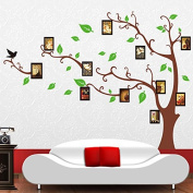 Alrens_DIY(TM) Family Photo Frame Tree DIY Eco-friendly Wall Stickers Home Decoration Removable Living Room Bedroom Decor Décor adesivo de parede Self Adhesive Creative Art Mural Decorative Decal