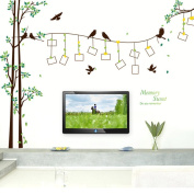 Sweet Memory Photo Frame Tree Birds DIY Wall Sticker Large Wall Decals for Living Room Sofa Background Nursery Decorative Home Decoration