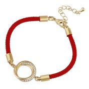 D EXCEED Girls Ring Charm Handmade Strand String Bracelet