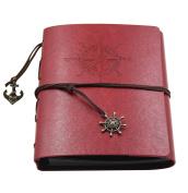 Farway Leather DIY Photo Album with Scrapbook Storage Box Vintage Anniversary Scrapbook[Red]