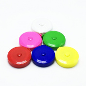 BUSHIBU 6 pcs150 cm 60 Inch Push Button Soft Retractable Tape Measure Handy Pocket Tape Measure Double-Sided Tailor's Measuring Tape