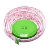 BUSHIBU Red Yellow Blue 3 pcs150 cm 60 Inch Push Button Soft Retractable Tape Measure Handy Pocket Tape Measure Double-Sided Tailor's Measuring Tape